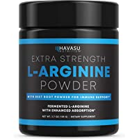 Havasu Nutrition Extra Strength L-Arginine Pre Workout Powder; 1200 mg Nitric Oxide Supplement for Muscle Growth and…