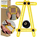 Angleizer Template Tool Multi Angle Measuring Ruler | Geldy Tools Angle-izer Layout | Angles & Shapes Finder | With Metal Screw Threads I For Professional & General DIY Wood Tile Flooring