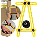 Angleizer Template Tool Multi Angle Measuring Ruler   Geldy Tools Angle-izer Layout   Angles & Shapes Finder   With Metal Screw Threads I For Professional & General DIY Wood Tile Flooring