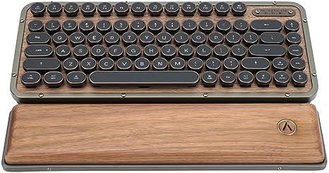 PENKJPS Estilo Retro máquina de Escribir Teclado mecánico, 81 ...