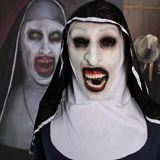 AARRM Disfraz de Halloween para Mujer, máscara de Monja 2019 con ...