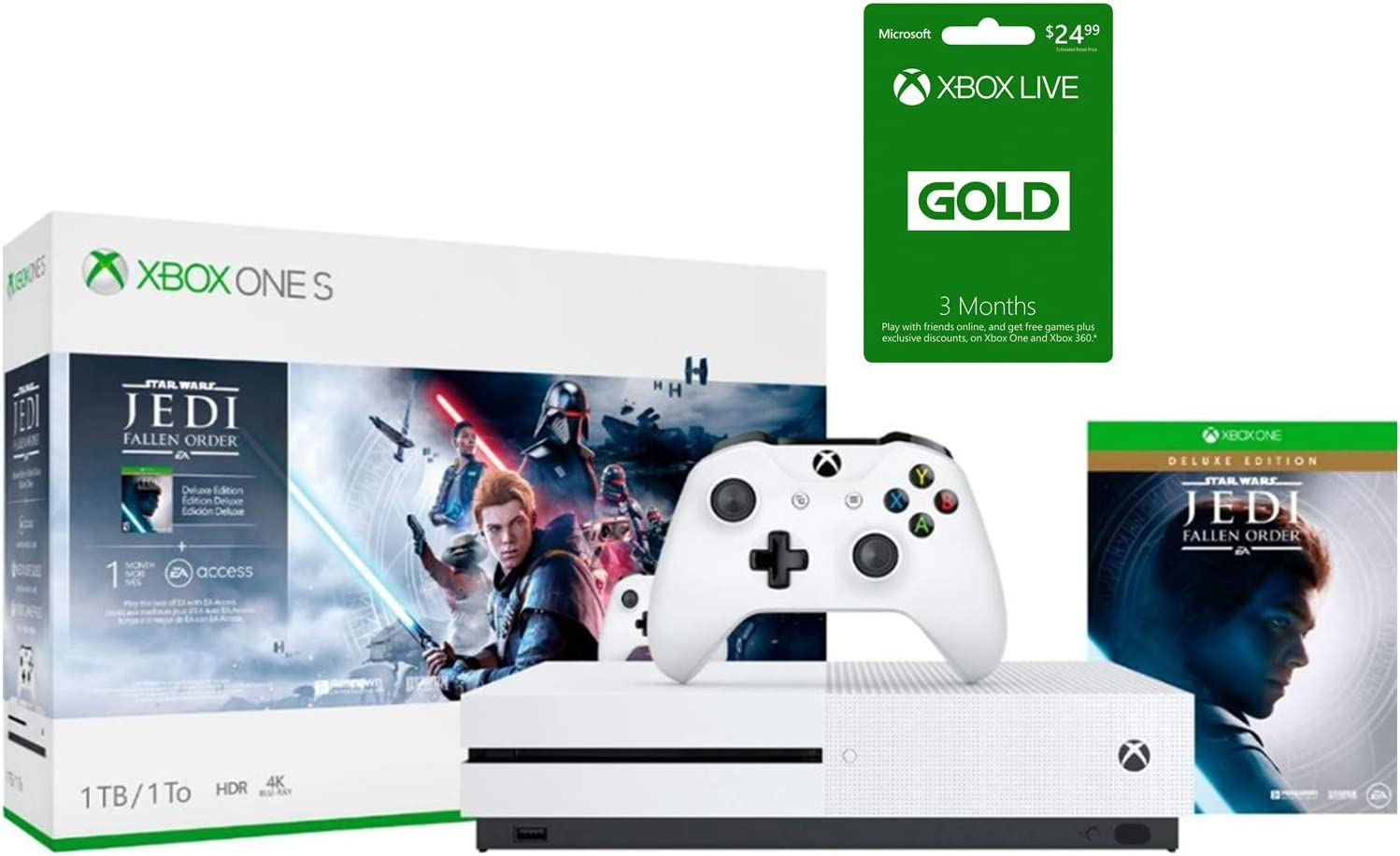 Xbox One S Star Wars Jedi: Fallen Order Bundle, Xbox One S 1TB ...