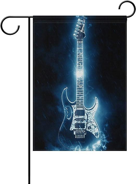 LINDATOP Bandera de jardín Guitarra eléctrica, de Doble Cara, de ...