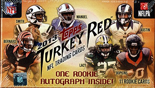 Topps Red Football (2013 Topps Turkey Red Football Factory Sealed Hobby Box)
