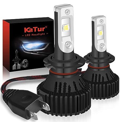 KaTur H7 Bombillas para Luces LED Super Brillante CREE Chips 16000LM Kit de conversión de Luces ...