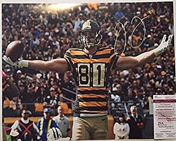 Image Unavailable. Image not available for. Color  Jesse James Signed  Pittsburgh Steelers 16x20 Photo - JSA Certified 00d5224c9