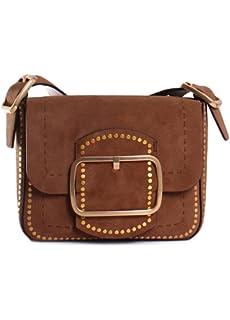23ab84ec716a Amazon.com  Tory Burch Sawyer Stud Ladies Small Suede Shoulder Bag ...