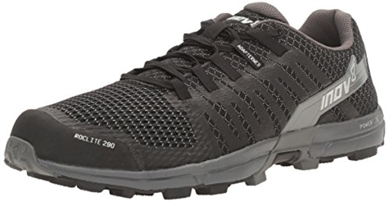 Inov8 Men's Roclite 290 Trail Running Shoes & Performance Headband Bundle B07945HPZV 13 D(M) US|Black / Grey