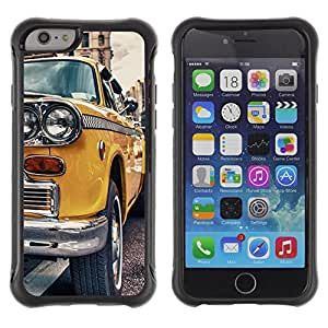 BullDog Case@ CLASSIC VINTAGE NEW YORK TAXI Rugged Hybrid Armor Slim Protection Case Cover Shell For iPhone 6 Plus CASE Cover ,iphone 6 5.5 case,iPhone 6 Plus cover ,Cases for iPhone 6 Plus 5.5