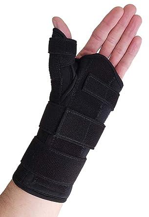 thumb spica splint wrist brace both a wrist splint and thumb splint to support sprains tendinosis de quervain s tenosynovitis fractures or