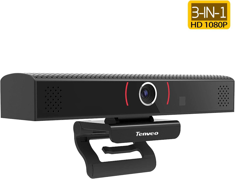 Tenveo Stream Webcam 3-in-1 Full HD 1080p Camera for Video conferencing, Recording and Streaming (TEVO-VA1000)