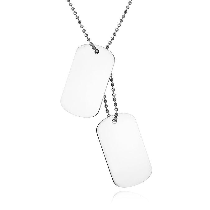 JewelryWe Colgante Collar Personalizado Dog Tag Militar ...