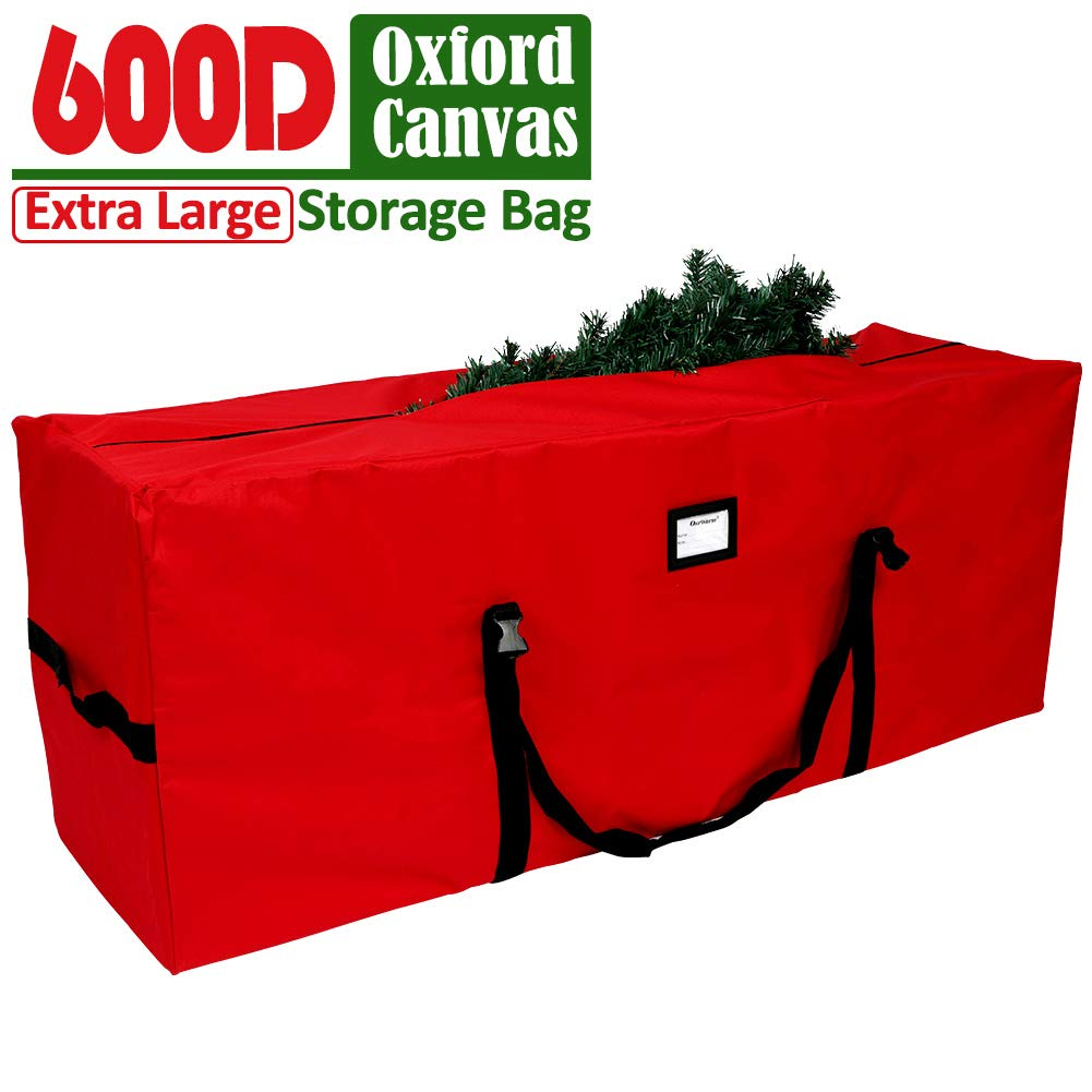 AerWo Christmas Tree Storage Bag Extra Large Christmas Storage Containers, Fits Up to 7.5 Ft Artificial Trees Heavy Duty 600D Oxford Xmas Holiday Tree Bag with Durable Handles & Dual Zipper