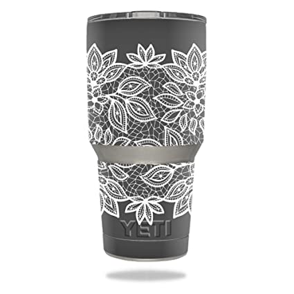 17950bb72f8 MightySkins Skin for Yeti 30 oz Tumbler - Floral Lace | Protective,  Durable, and