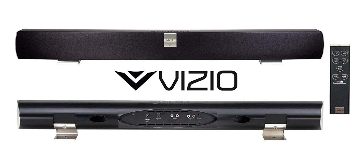 Manufacturer Renewed Without Bluetooth VIZIO VSB200 Universal Home Theater HD 40in Sound BAR Speaker VSB200-B Soundbar (Discontinued) (VIZIO VSB200, Black)