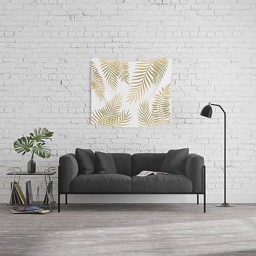 society6 Oro Hojas de palmera pared tapiz: Marta Olga Klara ...