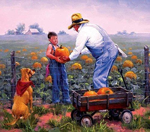 SUNSOUT INC Grandpa's Pumpkins 300 Pc Jigsaw Puzzle