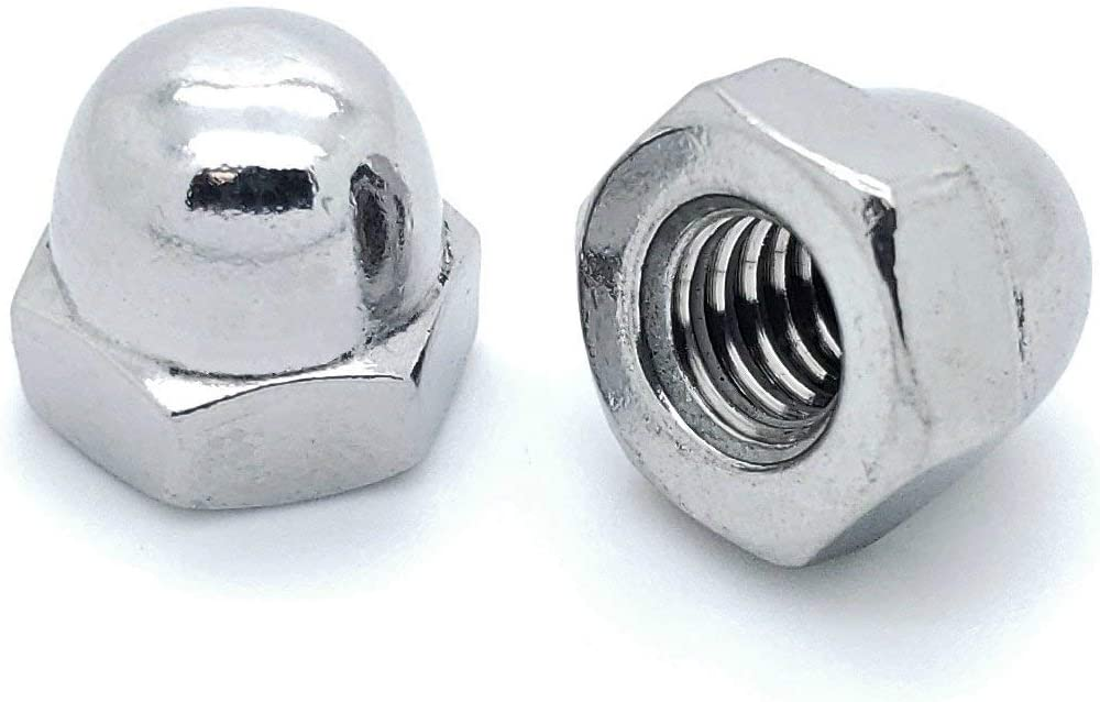 25 Qty 1//4-20 Stainless Steel Acorn Hex Cap Nuts SNG592 SNUG Fasteners