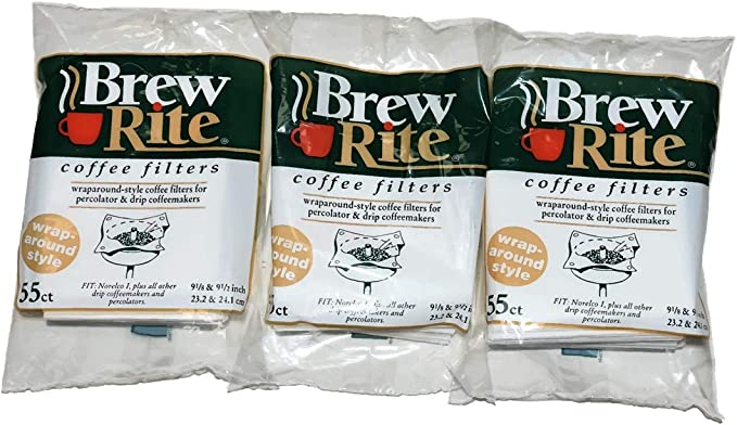 Brew Rite Rockline Wrap Around Percolator Coffee Filters (Pack of 3)