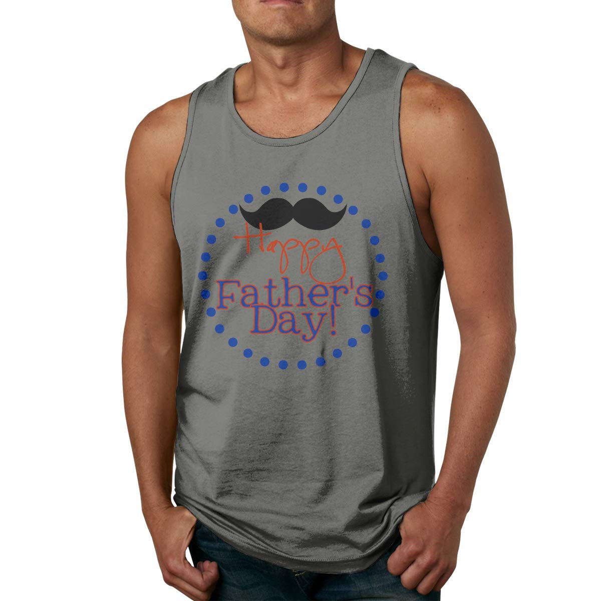 Vanmass Happy Father Day Sleeveless Tank Top Tshirt