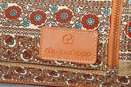 x hasta grande Bolsa Colchoneta doyouryoga 6 Muster x Calidad Braunes de extra yoga de de Sunita lona cm 63 gimnasia 186 para 0 vZvFfOq