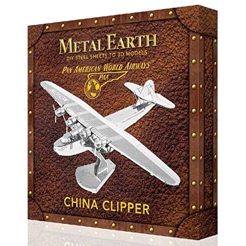 Fascinations Metal Earth Pan American China Clipper Airplane 3D Laser Cut Metal Model Boxed Kit ()