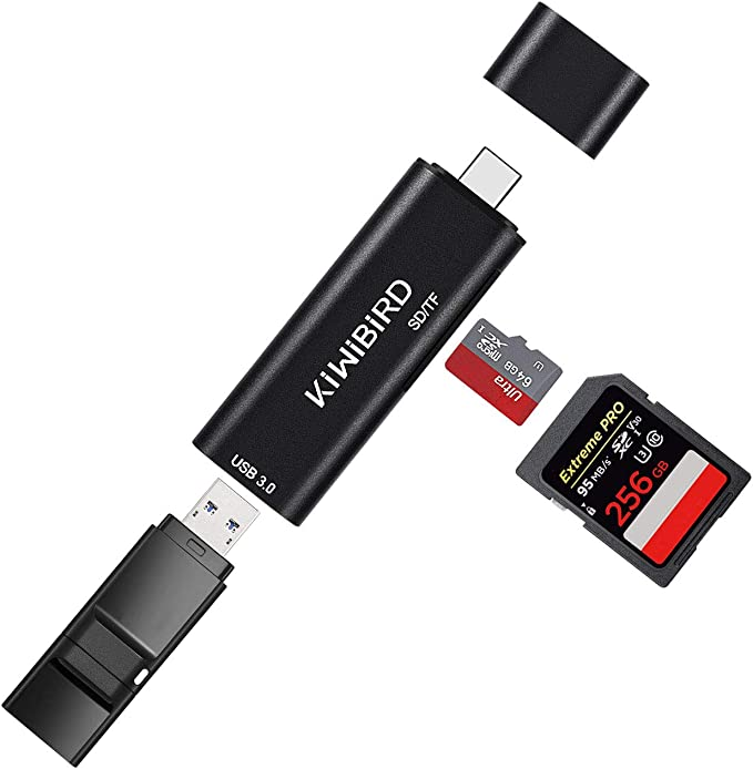 Google Pixelbook KiwiBird Type-C SD//Micro SD//TF Card Reader Pixel 1//2//3 more Type-C Devices Huawei P20//Mate 20 USB-C to USB 3.0 Adapter HUB Compatible with Apple MacBook OnePlus 6T MacBook Pro