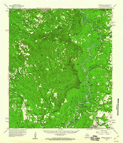 - YellowMaps Merryville LA topo map, 1:62500 Scale, 15 X 15 Minute, Historical, 1959, Updated 1960, 20.9 x 18 in - Paper