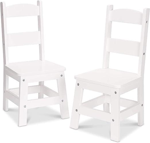 Gray Melissa /& Doug Wooden Chair Pair