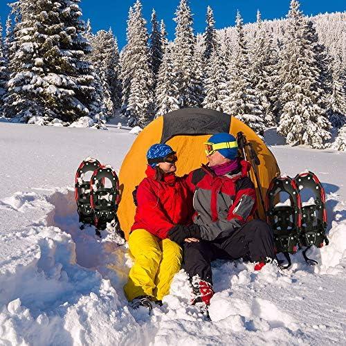 Raquettes /à neige en alliage daluminium l/éger et ergonomique avec sac de transport 55,9 cm//66 cm