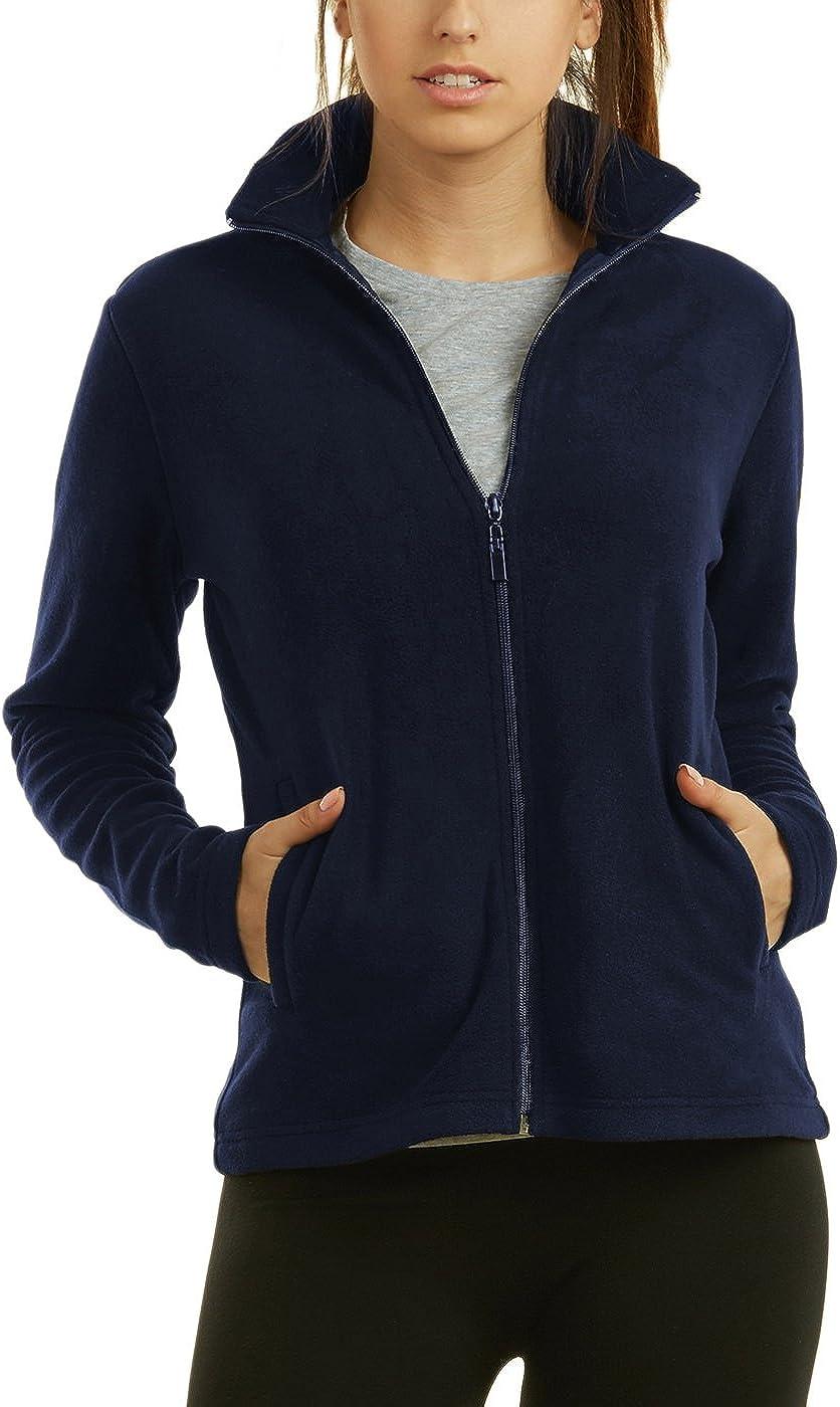 Sofra Womens Polar Fleece Full Zip Up Winter Jacket