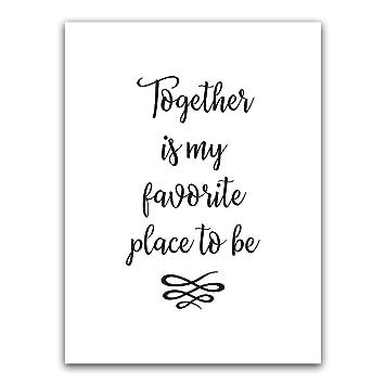 Amazon.com: Juntos es mi lugar favorito para ser recámara ...
