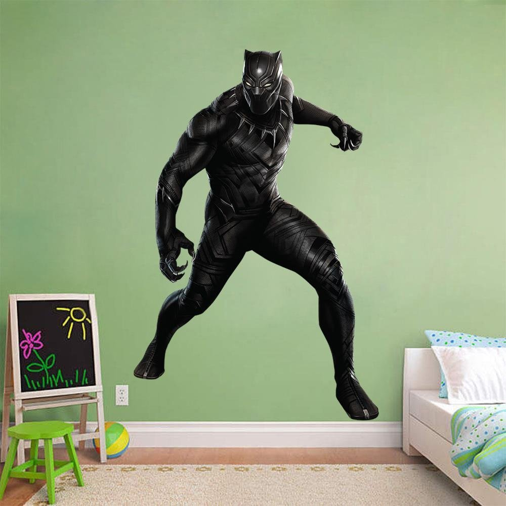 Black panther wall sticker decal decor art mural marvel super hero huge wc33 giant