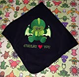 Cthulhu Loves You Baby Receiving Blanket