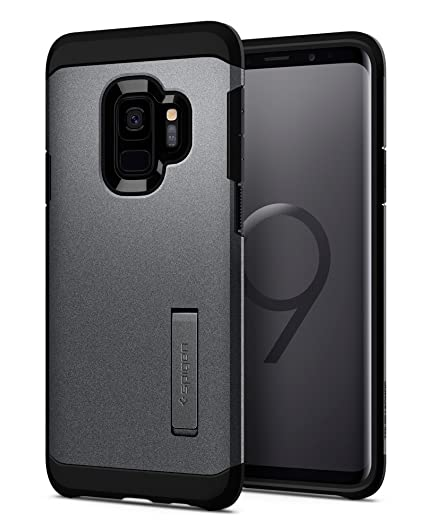 online retailer 9ecbb af491 Spigen Tough Armor Designed for Samsung Galaxy S9 Case (2018) - Graphite  Gray