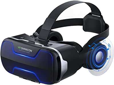 VR Headset, 3D VR Glasses Virtual Reality Headset Helmet Goggles for TV, Movies & Video Games Compatible with iOS, Android and Other Phones Within 4.7-6 inch