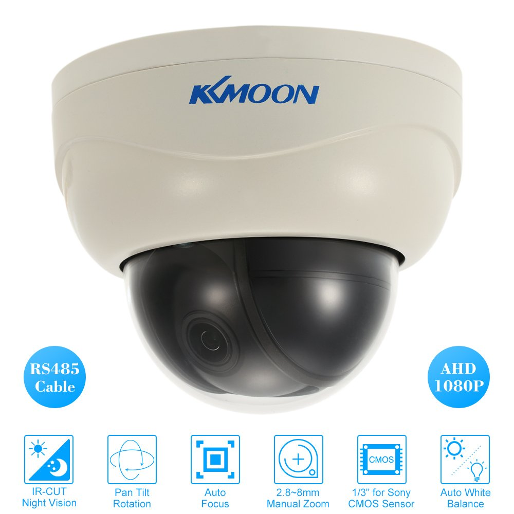 KKmoon 1080PAHD PTZカメラ 200万画素 2.8~8mm自動フォーカス手動ズームレンズ 1/3