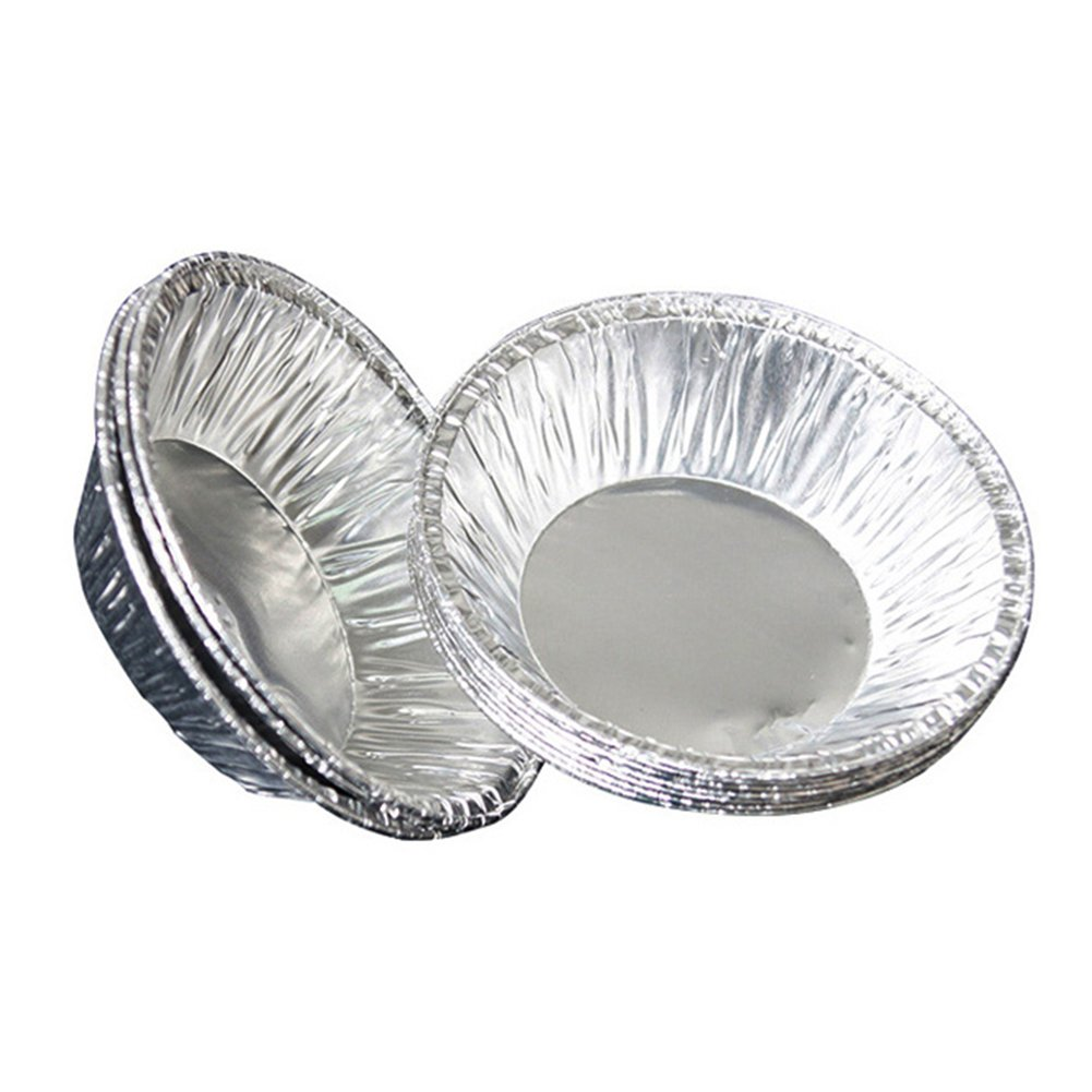 Disposable 3'' Aluminum Foil Egg Tart Tins Mold Pie Pans Baking Tools, Pack of 250 by Tong Yue (Image #2)