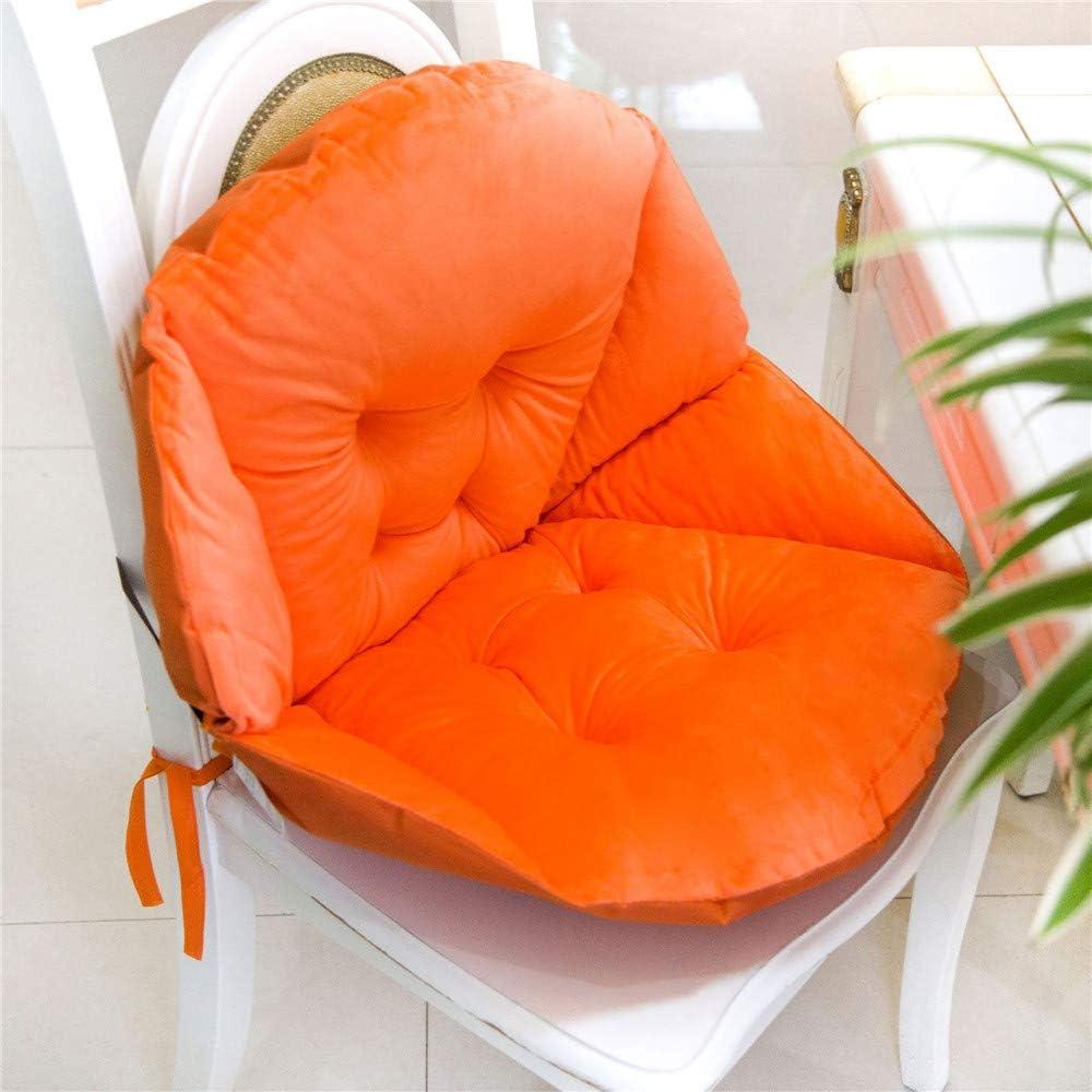 48 x 40 cm,Orange GLITZFAS Coussin de Chaise Coussin de si/ège /épais /Édition Bas Coquille Velours Douillet /élastique Imperm/éable Fauteuil Chaise Paille Jardin