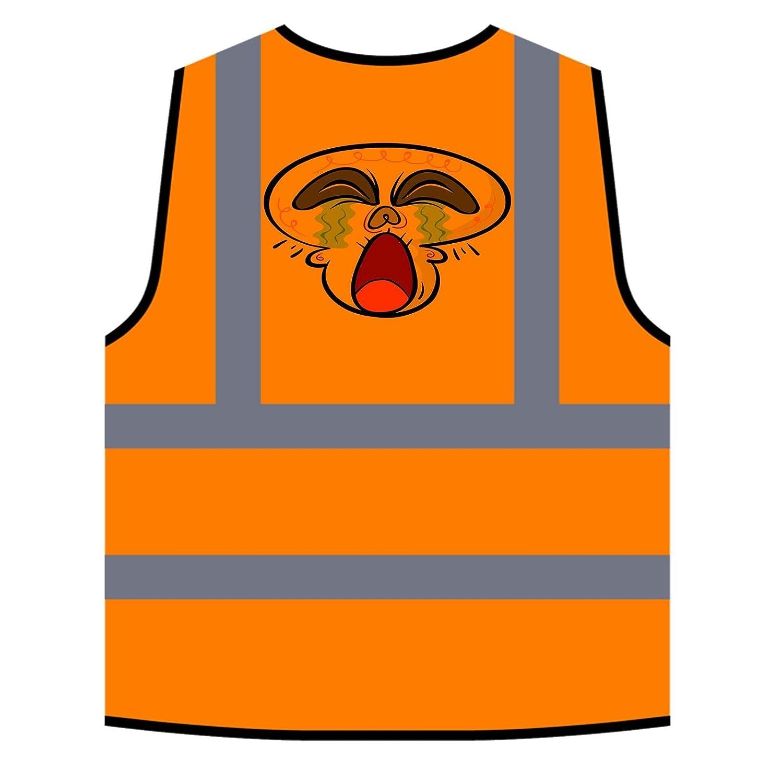 Abbigliamento da lavoro e divise Abbigliamento specifico Cranio Divertente Originale Personalizzato Hi Visibilità Giacca Gilet Arancione di sicurezza r592vo