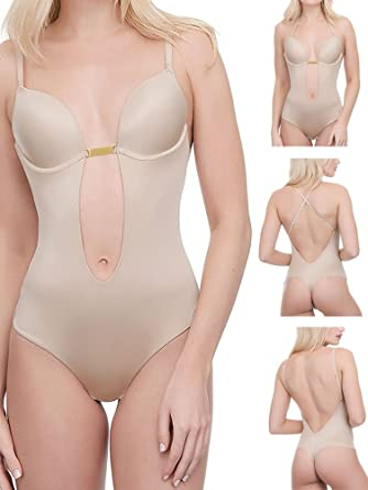 06cc39f54a Ultimo Women s Front Low Back Body Bodysuit  Amazon.co.uk  Clothing