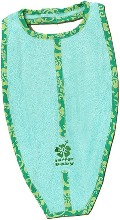 Green Surfer Baby Large Surfboard Shaped 100/% Cotton Terry Baby Bib