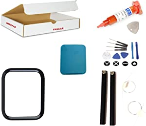 Screen Repair Kit Compatible for Apple Watch Series 4 (40mm) Model A1975 A1977 A2007 - Front Glass Lens Replacement