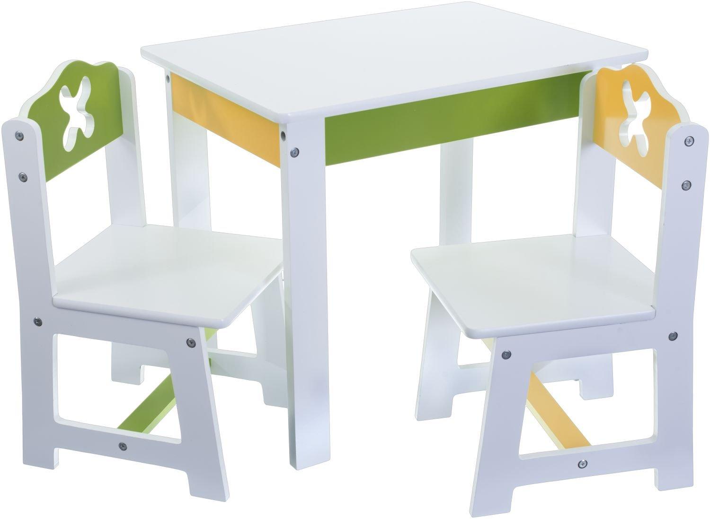 Bieco 74199200–Seggiolino per bambini del gruppo con tavolo e 2Sedie, colore: bianco Supa GmbH Siva _74199200
