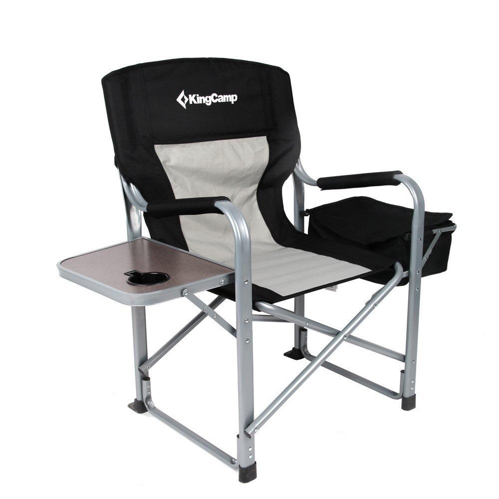 KingCamp Campingstuhl Regiestuhl mit Seitentisch und Kühltasche