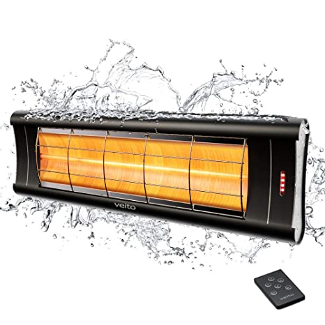 Aero S – Calefactor de infrarrojos 2500 W mando a distancia – 4 niveles de calor