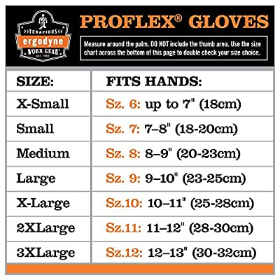 Ergodyne ProFlex Hi-Vis Thermal Waterproof Glove, Black