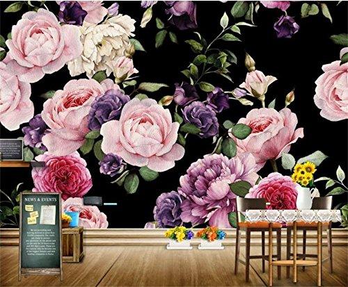 Yosot 3D-Tapeten Fototapete Benutzerdefinierte Wandbild Wohnzimmer Handgemalte Rosen 3D Malerei Sofa Tv Hintergrundbild Für Wände 3D-200Cmx140Cm