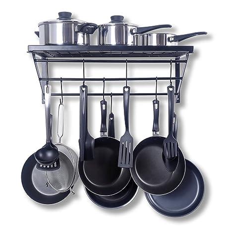 ZPOKA - Bandeja de Cocina, con 10 Ganchos en Forma de S, Metal,