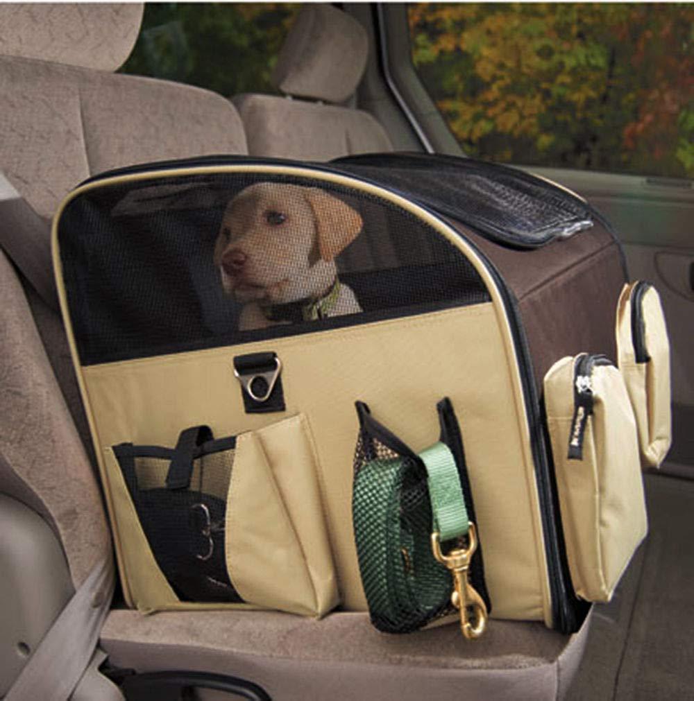 Generic  G CAT CAT PUPPY PUPPY PET PET CAR AR SEAT L SIZE BROWN ARRIER L SIZ LUXURY DOG SEAT CARRIER